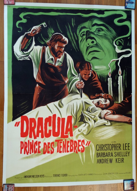 DRACULA:  PRINCE OF DARKNESS (1966) 26480 Original French Grande Poster (47x63) Linen Backed  Fine Plus Condition.