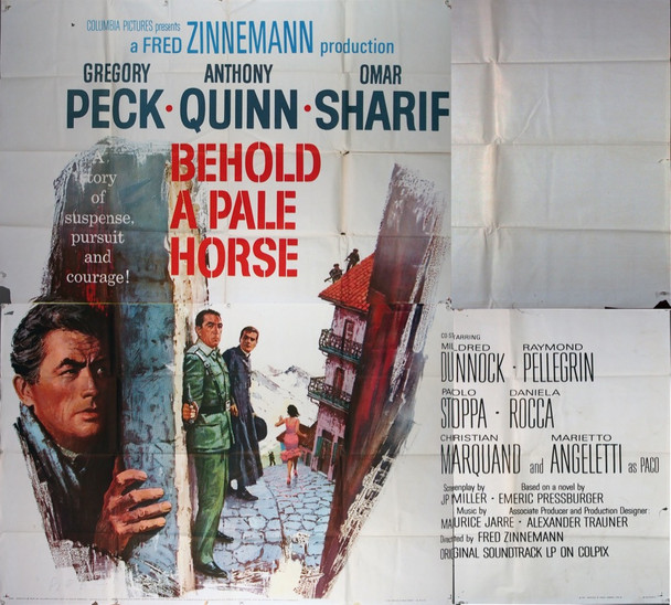 BEHOLD A PALE HORSE (1964) 13221 Columbia Pictures Original Six Sheet Poster (81x81) Folded  Average Used Fair to Good Condition