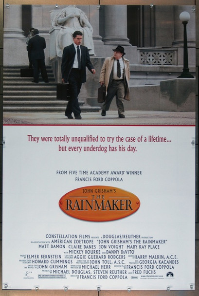 RAINMAKER, THE (1997) 26300 Paramount One-Sheet Poster (27x41) Rolled  Very Fine Condition