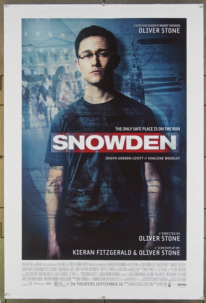 SNOWDEN (2016) 26358 Open Road Films Original One-Sheet Poster (27x40) Never Folded  Very Fine Condition