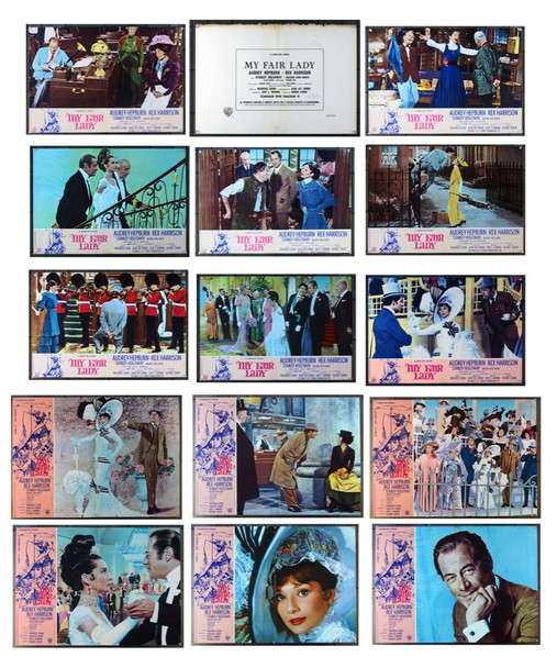MY FAIR LADY (1964) 23651 Warner Brothers Original Italian Fotobustas  Complete Set with Cover 12 fotos  Very Fine Condition