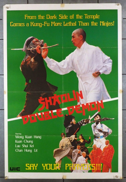 SHAOLIN DOUBLE DEMON (70'S) 26672 UIC Original Martial Arts Movie Poster  (23x35)  Folded  Fine Condition.  Average Used