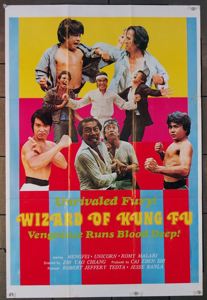 WIZARD OF KUNG FU (80'S) 26675 Martial Arts Film Poster (24x35) Studio Unknown (24x35) Folded Very Fine Condition  Theater-Used