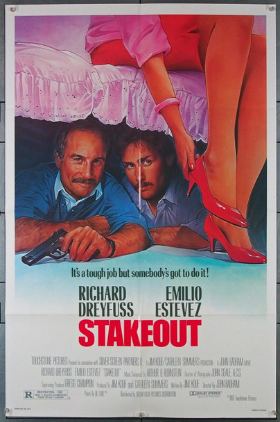 STAKEOUT (1987) 1541 Touchstone Films Original One-Sheet Poster  (27x41) Folded  Very Fine Condition