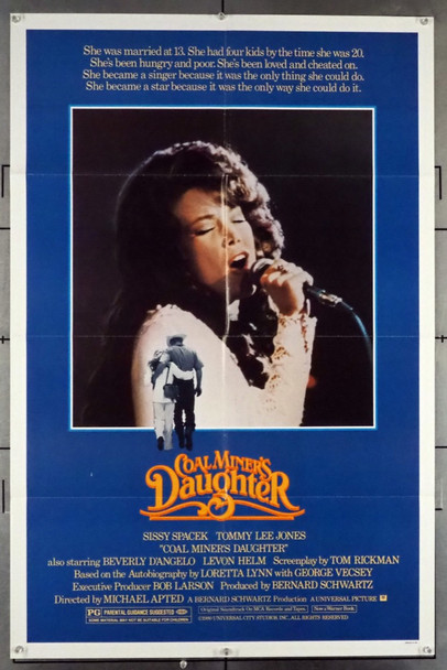 COAL MINER'S DAUGHTER (1980) 8127 Universal Pictures Original One-Sheet Poster (27x41) Folded   Fine Plus Condition