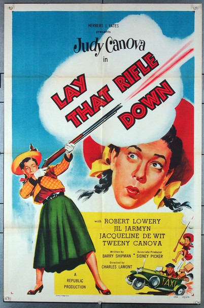 LAY THAT RIFLE DOWN (1955) 2383 Republic Studios Original One-Sheet Poster  (27x41)  Folded  Very Fine Condition