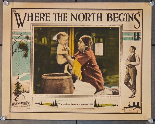 WHERE THE NORTH BEGINS (1923) 25731 Warner Brothers Original Scene Lobby Card  11x14  Very Fine
