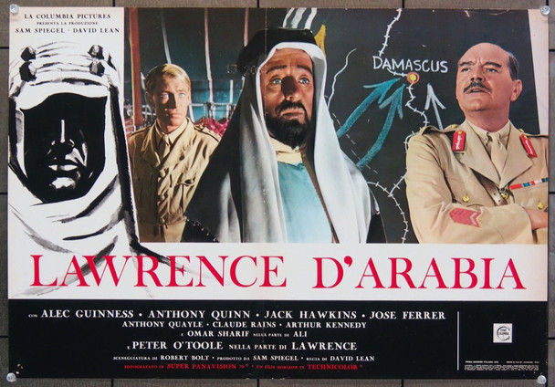 LAWRENCE OF ARABIA (1962) 26642 Columbia Pictures Original Italian 18x27  Re-release of 1963  Very Fine Condition