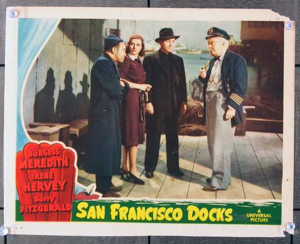 SAN FRANCISCO DOCKS (1940) 26718 Universal PIctures Original Scene Lobby Card (11x14) Good Condition  Theater Used