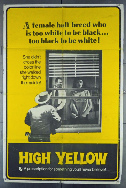HIGH YELLOW (1965) 3316 Thunder PIctures Original One-Sheet Poster (27x41) Folded  Theater-Used Average Used Condition