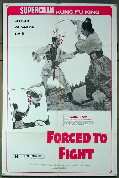 FORCED TO FIGHT (1971) 26722 Aquarius Releasing U.S. One-Sheet Poster (27x41) Folded  Very Fine Condition