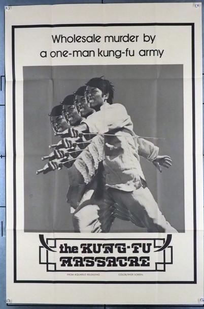 KUNG FU MASSACRE (1974) 26723 Aquarius Releasing Original U.S. One-Sheet Poster (27x41) Folded  Very Fine Martial