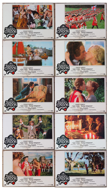 BARRY LYNDON (1975) 26629 Italian Fotobustas.  Complete set of 10 posters  (19x26)  Fine Plus to Very Fine Condition