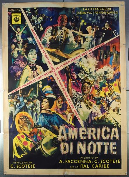 AMERICA DI NOTTE (1961) 26628 Italcaribe Original Italian Two-Foglio Poster (39x55) Folded  Fine Condition