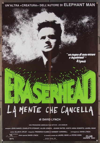 ERASERHEAD (1978) 26679 Libra Films Original Italian One-Foglio Poster (27x39)  Folded  Very Fine Condition