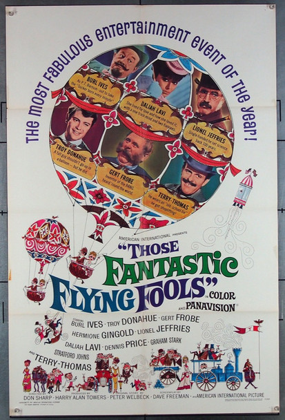 ROCKET TO THE MOON (1967) 18562 Warner Pathe Original U.S. One-Sheet Poster (27x41) Folded  Very Fine Plus Condition