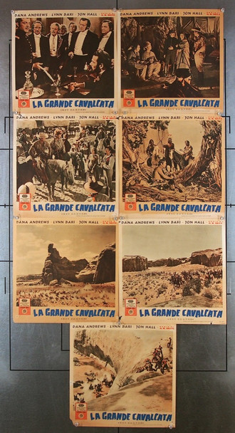 KIT CARSON (1940) 25236 United Artists Original Italian Fotobustas (13x13) Seven Different Fotobustas