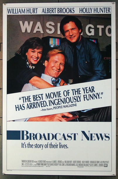 BROADCAST NEWS (1987) 522 20th Century Fox Original One-Sheet Poster (27x41) Rolled  Very Fine Condition