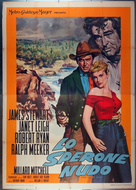 NAKED SPUR, THE (1953) 26685 MGM Original Italian Four Foglio Poster  Folded  79x55  Very Fine Condition