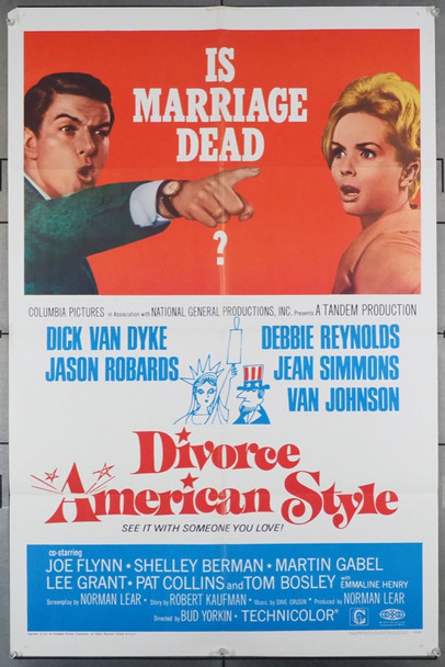 DIVORCE AMERICAN STYLE (1967) 18519 Columbia Pictures Original One-Sheet Poster (27x41) Folded  Very Good Plus to Fine Condition
