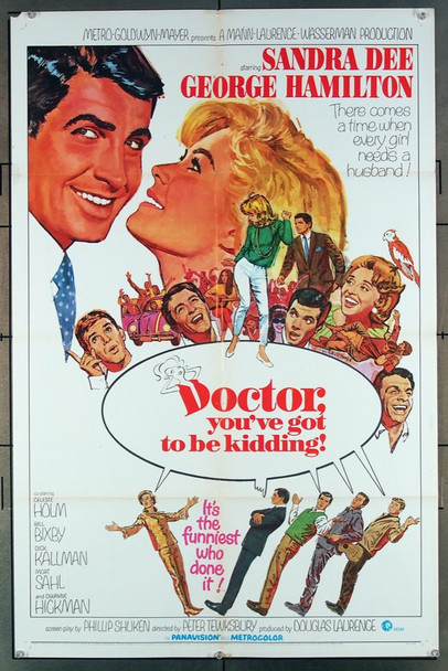 DOCTOR, YOU'VE GOT TO BE KIDDING (1967) 18520 MGM Original One-Sheet Poster  (27x41) Folded  Fine Plus Condition