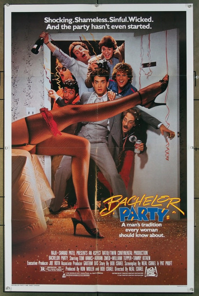 BACHELOR PARTY (1984) 3104 20th Century Fox Original U.S. One Sheet Poster  (27x41)  Folded  Very Fine Condition