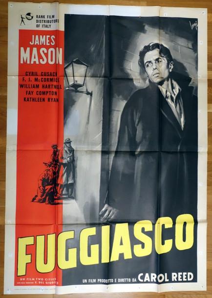 ODD MAN OUT (1947) 26686 Original Italian Four-Foglio Poster  79x55  Folded  Assembled  Very Fine Condition