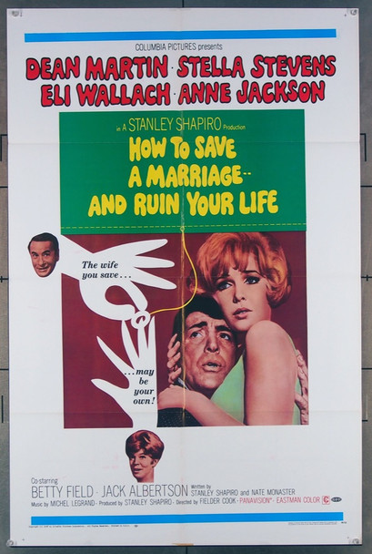 HOW TO SAVE A MARRIAGE--AND RUIN YOUR LIFE (1968) 18533 Original Columbia Pictures One Sheet Poster (27x41).  Folded.  Very Fine.