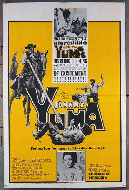 JOHNNY YUMA (1966) 18534 Original Atlantic Releasing Corporation One Sheet Poster (27x41).  Folded.  Very Fine.