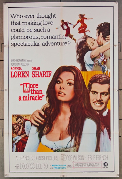 C'ERA UNA VOLTA (1967) 18541 Original MGM One Sheet Poster (27x41).  Folded.  Very Fine.