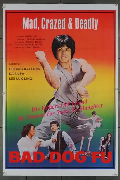 BAD DOG FU (1979  ) 26813 Xenon Entertainment Original U.S. Movie Poster  (23x34)  Folded  Very Good Condition