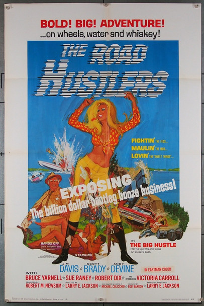 ROAD HUSTLERS, THE (1968) 18554 Original American International Pictures One Sheet Poster (27x41).  Folded.  Very Fine.