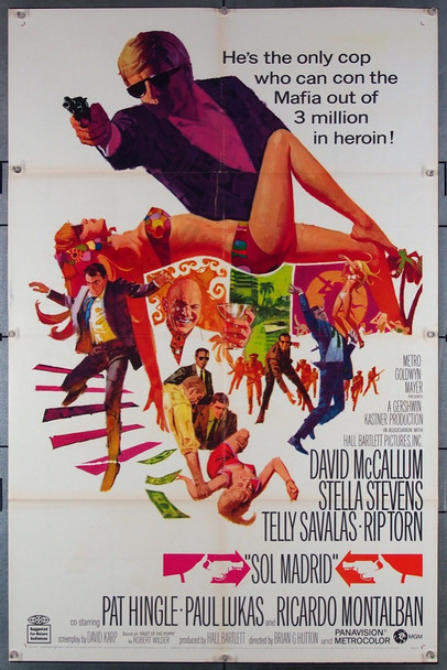 SOL MADRID (1968) 18557 Original MGM One Sheet Poster (27x41).  Folded.  Very Fine.