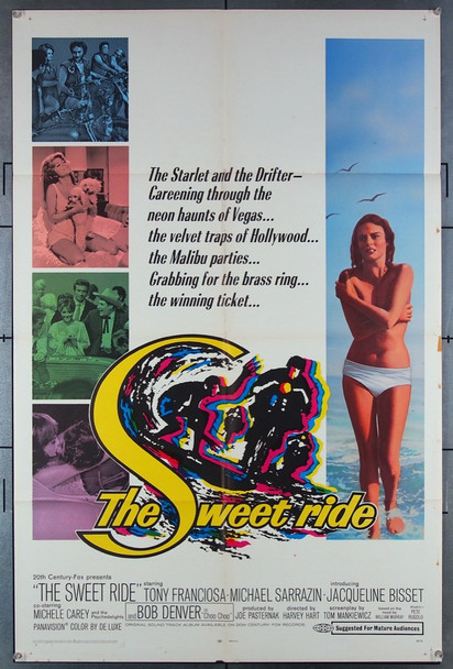 SWEET RIDE, THE (1968) 18559 Original 20th Century-Fox One Sheet Poster (27x41).  Folded.  Very Fine.