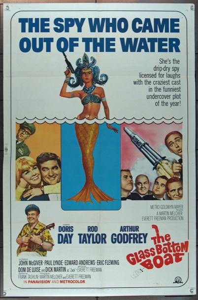 GLASS BOTTOM BOAT, THE (1966) 11471 MGM Original One Sheet Poster   27x41  Folded  Fine Plus Condition