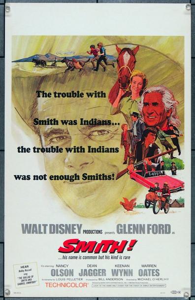 SMITH! (1969) 26822 Walt Disney Company Original Window Card Poster (14x22)  Very Fine Condition