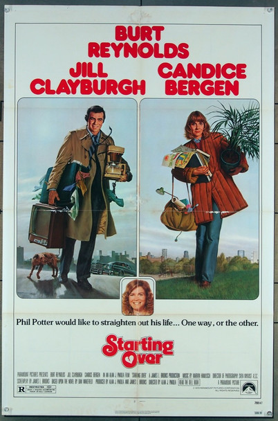 STARTING OVER (1979) 15665 Paramount Original One-Sheet Poster (27x41)  Good Condition Only