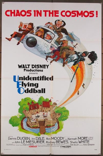 UNIDENTIFIED FLYING ODDBALL (1979) 15668 Walt Disney Company Original One-Sheet Poster (27x41) Folded  Fine Plus Condition