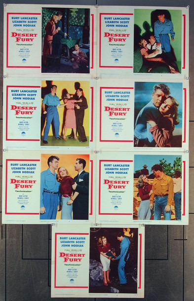 DESERT FURY (1947) 26861 Paramount Pictures Lobby Card Group (11x14)  Seven Different Cards  Re-release of 1958  Very Fine Condition