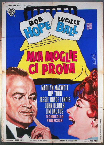 CRITIC'S CHOICE (1963) 26778 Warner Brothers Original Italian 39x55  Folded  Very Good Plus Condition