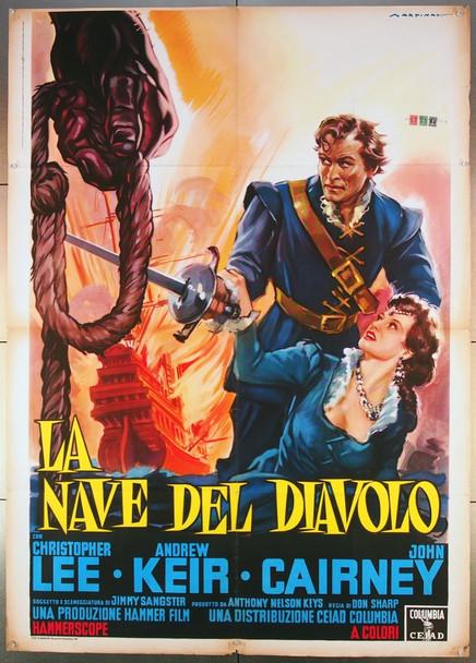 DEVIL-SHIP PIRATES, THE (1964) 26779 Warner-Pathe Distributors Italian 39x55  Folded  Fine Condition