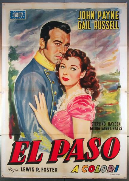 EL PASO (1949) 26798 Original Italian 39x55  Folded  Very Fine Condition