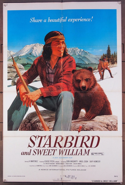 STARBIRD AND SWEET WILLIAM (1973) 22594 Howco International Original U.S. One-Sheet Poster  (27x41)  Folded  Very Good Plus to Fine Condition
