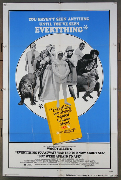 EVERYTHING YOU ALWAYS WANTED TO KNOW ABOUT SEX * BUT WERE AFRAID TO ASK - (1972) 12118 United Artists Original One Sheet Poster (27x41) Folded  Very Good Condition