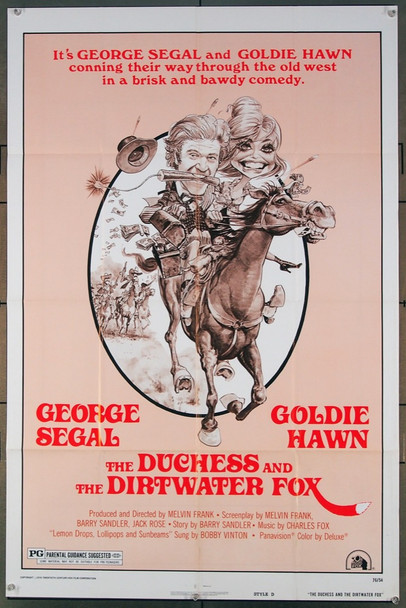 DUCHESS AND THE DIRTWATER FOX, THE (1976) 12123 20th Century Fox Original One-Sheet Poster Style D  (27x41) Folded  Fine Plus Condition