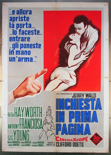 STORY ON PAGE ONE, THE (1959) 26793 20TH Century Fox Original Italian 39x55   Folded   Fine Condition  Average Theater-Used