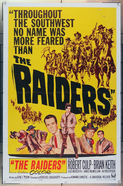 RAIDERS, THE (1963) 11185 Universal Pictures Original One-Sheet Poster  (27x41) Folded  Good to Very Good Condition