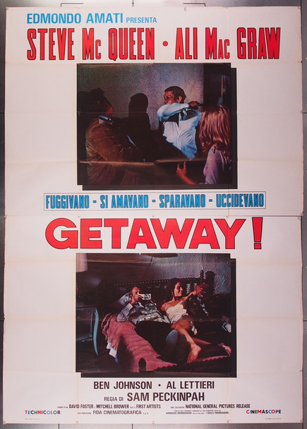 GETAWAY, THE (1972) 26903 Original Italian 79x55 Poster Folded  Very Good Condition