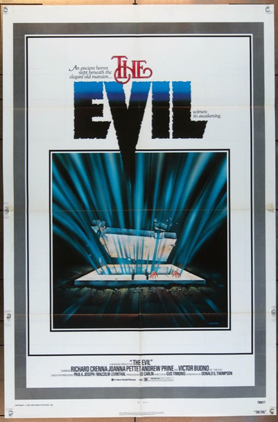 EVIL, THE (1978) 11670X New World Original One Sheet Poster   27x41  Folded  Very Good Condition