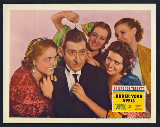 UNDER YOUR SPELL (1936) 26915 20th Century Fox Scene Lobby Card (11x14)  Very Fine Plus Condition   GREGORY RATOFF
